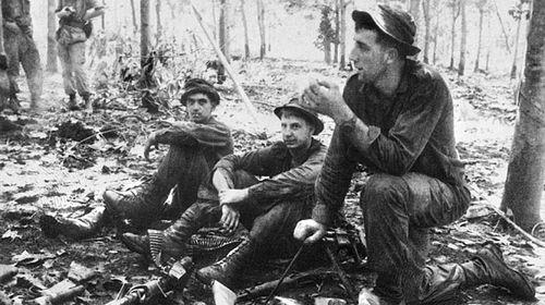 Australian soldiers during the battle of Long Tan in Vietnam on August 18, 1966. The battle was the bloodiest if not the biggest battle of Australia's involvement in Vietnam. (AAP/Australian War Memorial)