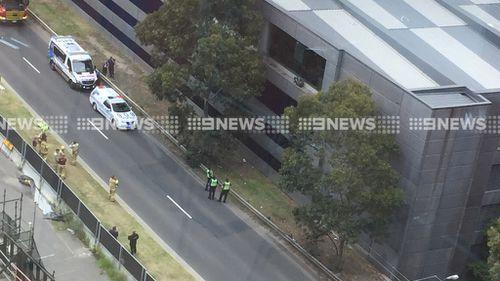 Prank leaves man stranded on Melbourne building