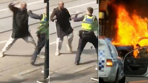 Witnesses captured the shocking attack on their mobile phones, before uploading it to social media minutes later.