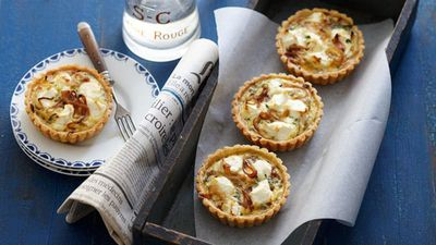 "<a href=""http://kitchen.nine.com.au/2016/05/16/17/06/herb-and-goats-cheese-tarts"" target=""_top"">Herb and goat's cheese tarts</a><br> <br> <a href=""http://kitchen.nine.com.au/2017/02/08/16/29/food-fight-savoury-pies-v-savoury-tarts"" target=""_top"">RELATED: Food fight: savoury pies v savoury tarts</a>"
