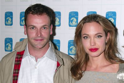 Jonny Lee Miller and Angelina Jolie during ''Peace One Day'' New York City Screening - Inside Arrivals and Green Room at Ziegfeld Theater in New York City, New York, United States.