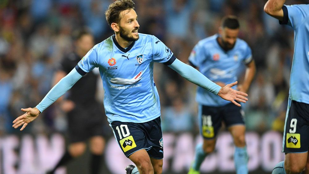 Milos Ninkovic struck the opening goal for Sydney FC. (AAP)