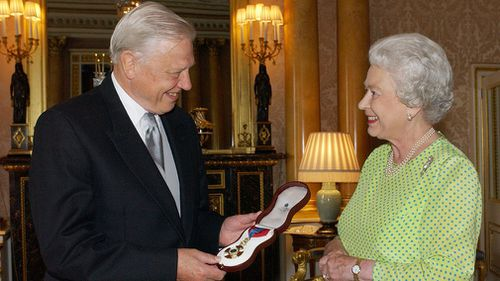 The move from Her Majesty comes after being inspired by Sir David Attenborough while working with him on a documentary focused on conservation and wildlife in the Commonwealth (AAP).