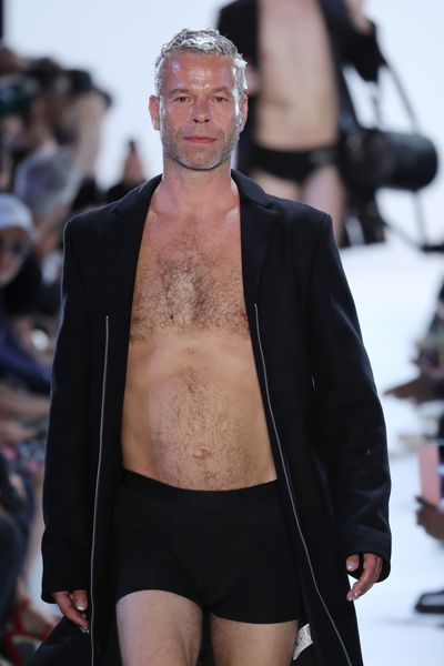 Wolfgang Tillmans on the runway