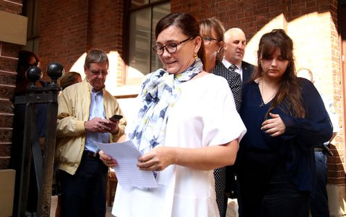 """Kimberley McGurk said """"today is a great day for justice"""". (AAP)"""