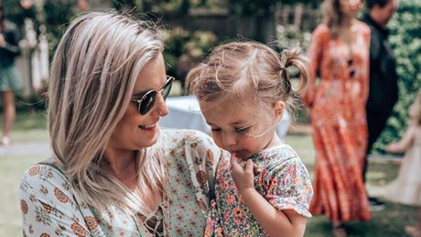 Olivia White and her daughter Annabelle