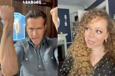 Ryan Reynolds and Mariah Carey's TikTok duet.