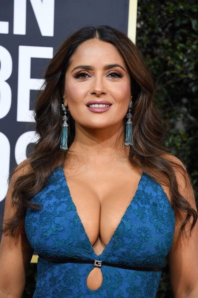 Salma Hayek attends the 77th Annual Golden Globe Awards at The Beverly Hilton Hotel on January 5, 2020 in Beverly Hills, California.