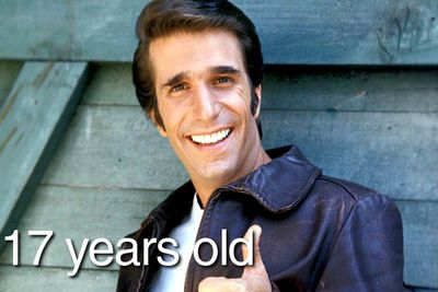 """On '70s sitcom <i>Happy Days</i>, Arthur """"Fonzie"""" Fonzarelli was the coolest 17-year-old in town, taking Ritchie, Potsie and Ralph under his leather-clad wing to show them the ways of the world. And there's a good reason he had so much wisdom to impart..."""
