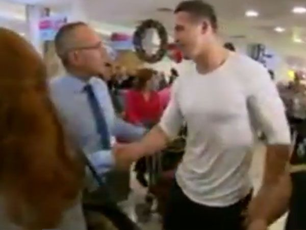 Sam Burgess arrives back in Australia. (Supplied)