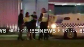 Erratic driver hits police outside KFC