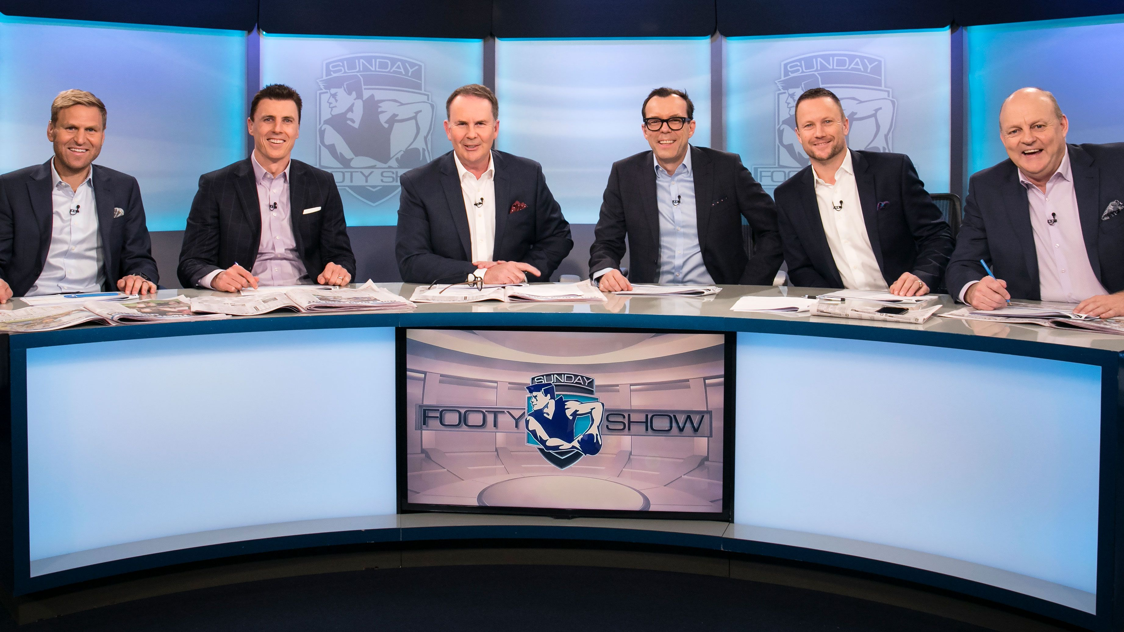 The Sunday Footy Show panel.