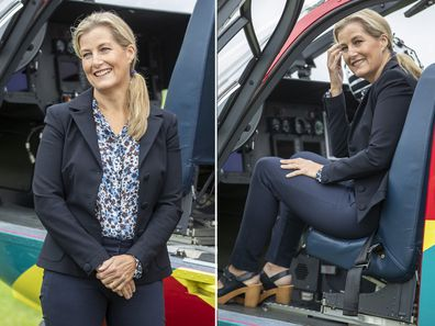 Sophie, Countess of Wessex visits air ambulance, September 2020