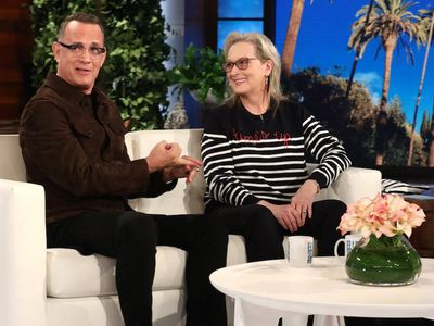Actors Tom Hanks and Meryl Streep on <em>The Ellen Show</em> in Los Angeles, February, 2018