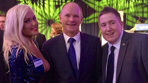Ms Candy with Campbell Newman and Neil Symes.