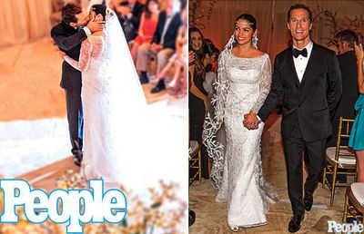 Matthew McConaughey and Brazilian model Camila Alves made a good looking pair at their June wedding. The couple have two (incredibly cute) kids together.