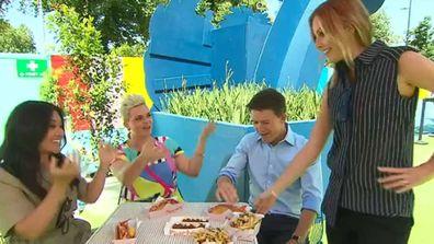 Tracy Vo, Jane de Graaff, Alex Cullen and Ali Langdon try Pinchy's lobster rolls