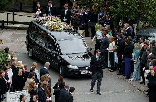 Hundreds of mourners attended the funeral service