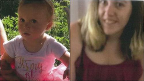 Laylah Goodman and her mother, Nicole, have been missing for three days. (9NEWS)