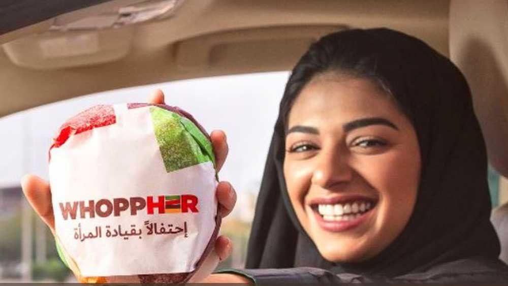 Burger King gives women in Saudi Arabia free burgers