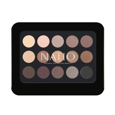 "<a href=""https://www.natio.com.au/"" target=""_blank"">Natio Natural Shades Eyeshadow Palette, $19.95.</a>"