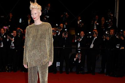 A droppy gold tracksuit was the name of the game for Tilda last year. We're used to avant-garde choices from the British actress but this was pushing it!