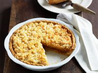 Coconut and caramel pie