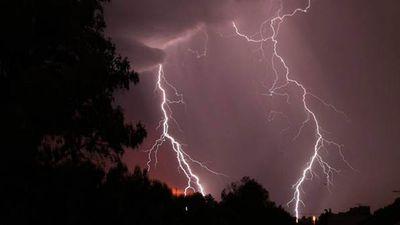 The lightning in Prospect, Adelaide. (Alex Barton)