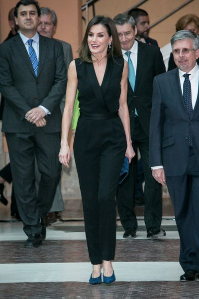 Queen Letizia in Hugo Boss at Casa de Correos in Madrid, April, 2018
