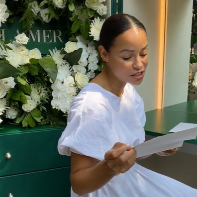 Extravagant beauty experience influencer received from La Mer.