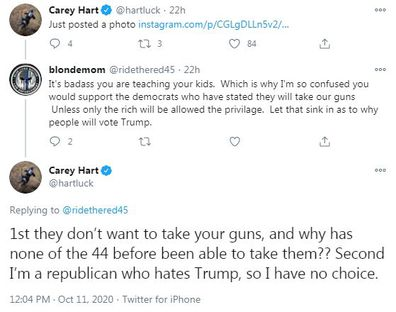 Carey Hart, shooting guns, kids Willow, Jameson, Instagram