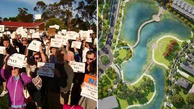 'No room': Thousands protest massive new development