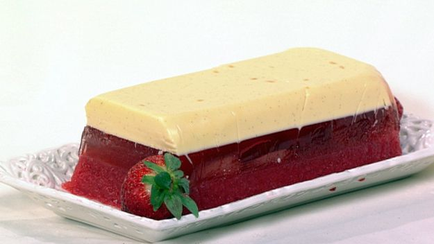 Champagne and panna cotta terrine