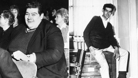 Angus Barbieri before and after his year-long fast. (AAP)