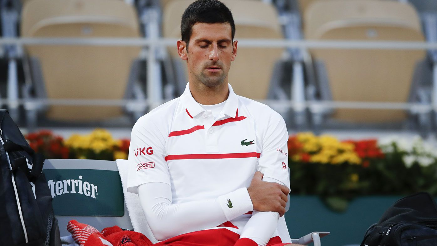 Novak Djokovic arm injury as he reaches French Open semi against Stefanos Tsitsipas