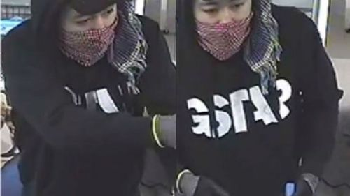 CCTV from the robbery in Glen Waverley shows a man police wish to speak to. (Image courtesy of Victoria Police)