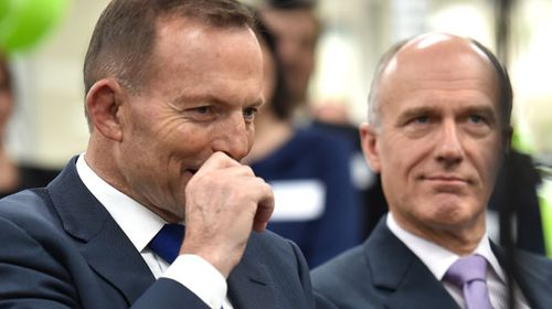 Prime Minister Tony Abbott and Senator Eric Abetz. (AAP)