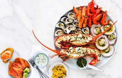 Great Australian Seafood platter.