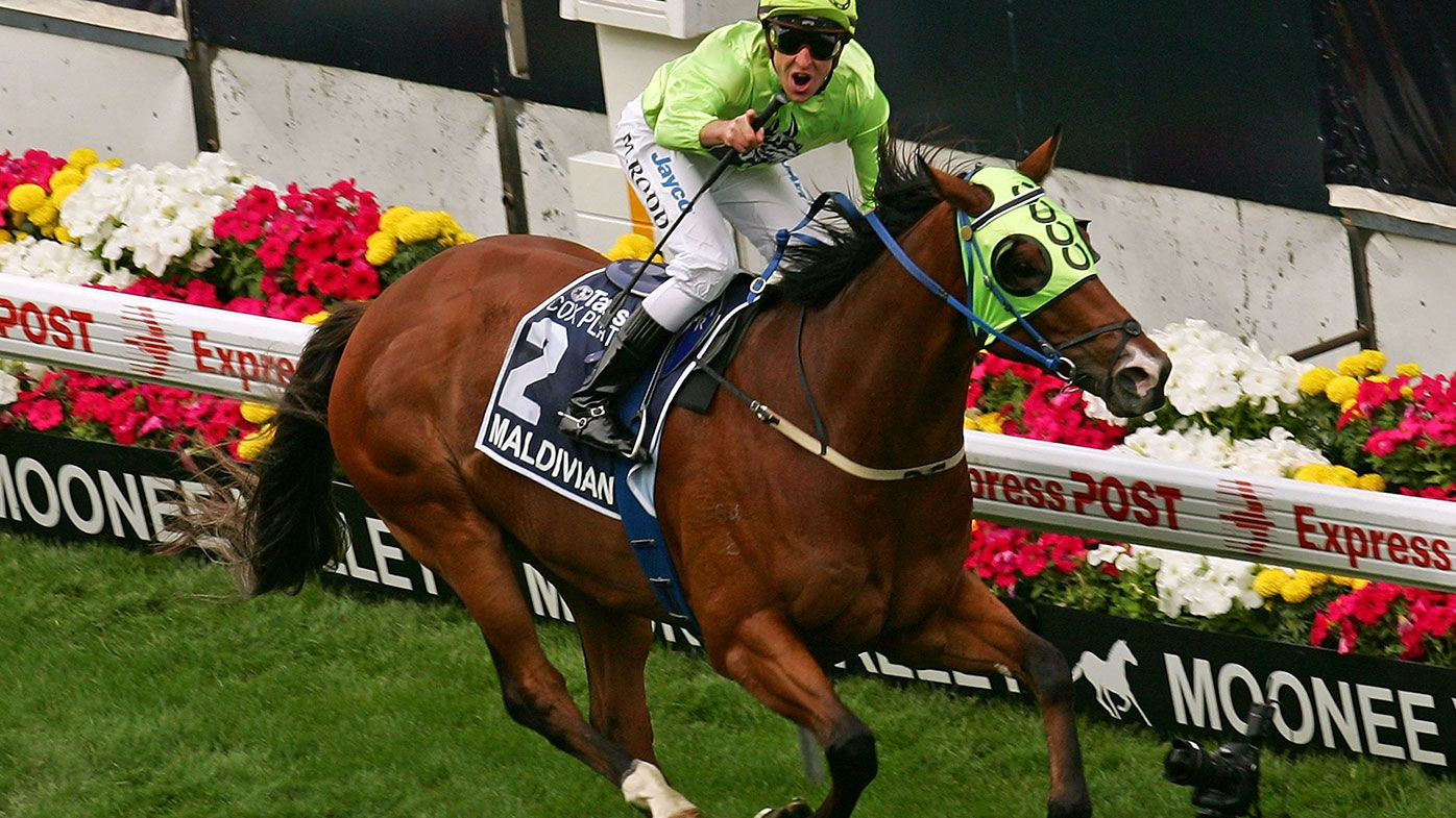 Maldivian ridden by Michael Rodd wins race 8 Tatts Cox Plate during the 2008 Cox Plate Day meeting at Moonee Valley Racecourse on October 25, 2008 in Melbourne, Australia.