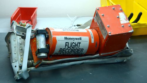 The Metrojet Airbus A321-200 flight data recorder. (Russian Ministry of Defence)