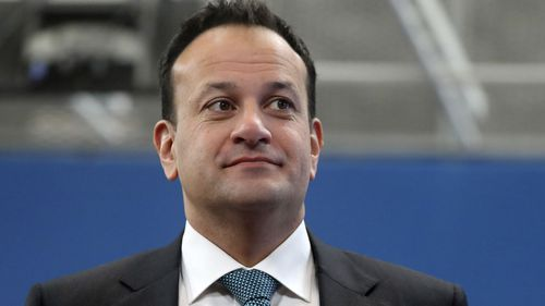 In this Friday, Feb. 21, 2020 file photo, Irish Prime Minister Leo Varadkar arrives for an EU summit at the European Council building in Brussels