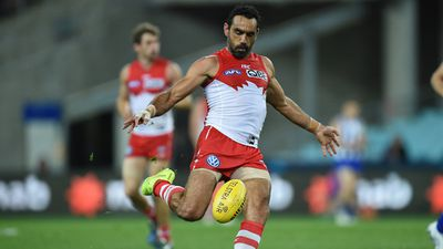 At the very bottom of the list was Adam Goodes, taking out spot number 15. (AAP)