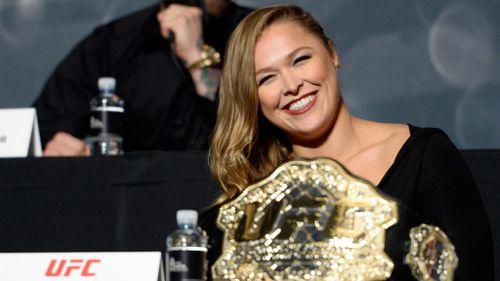 UFC women's bantamweight champion Ronda Rousey. (Getty Images)