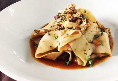 Chestnut pappardelle with pork ragu