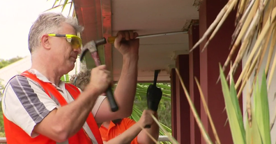 Tradies and volunteers worked for free, donating their time, labour and materials.