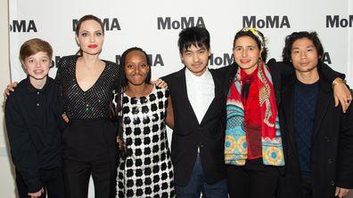 Angelina Jolie with her four eldest children