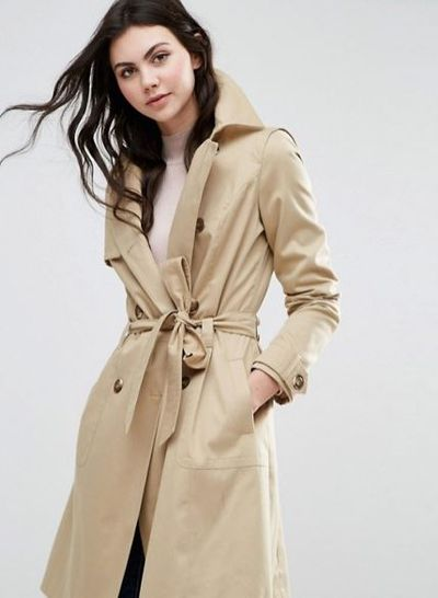 """Amal is all about the well-cut coat. Throw it on and it makes anything look sleek. <a href=""""http://www.asos.com/au/asos-tall/asos-tall-classic-trench-coat/prd/6830845?iid=6830845&channelref=product%20search&affid=11148&ppcadref=220055082