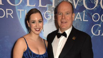 Jazmin Grace Grimaldi and Prince Albert II of Monaco attend the 2020 Hollywood For The Global Ocean Gala honoring HSH Prince Albert.