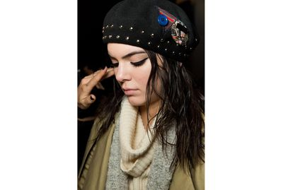 <p>At Marc by Marc Jacobs, mousse was used to create wet waves. A beanie on top made this a perfect wild weather go-to.</p>