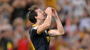 Robbie Kruse missed golden chance late in the match. (Getty)